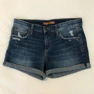 Joes low rise jean shorts, size 27